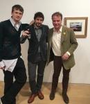 Tom Guinness, Ashley Heath (editor i propietari de la revista pop i arena homme +) i SebastianGuinness-low